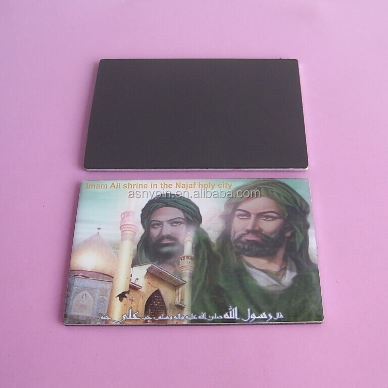full colour printing metal epoxy fridge magnet for Iraq souvenirs