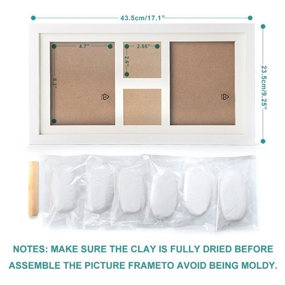 Diy Premium Neugeborenen Baby Handabdruck Und Footprint Ton Rahmen ...