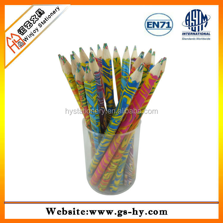 1cm diameter rainbow 4 color in 1 lead pencil