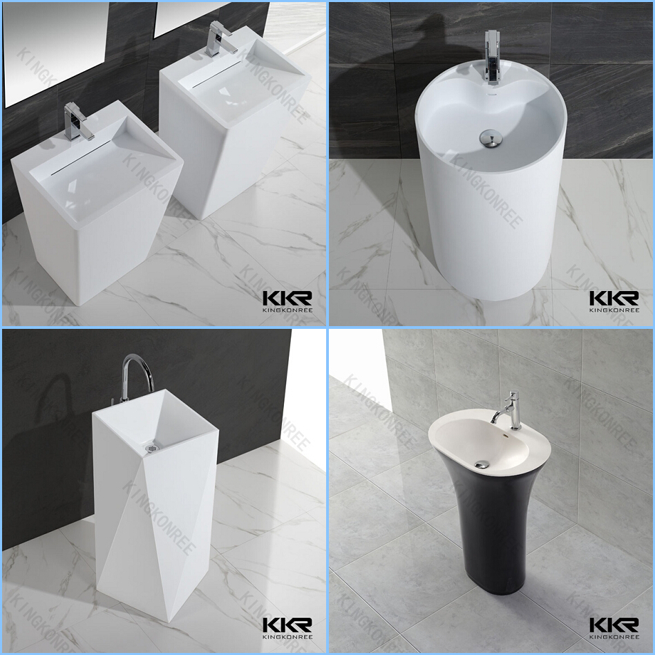 KKR porcelain european bathroom sinks, solid surface stone washbasin