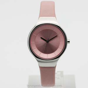 2018 latest watch model women quartz B2810-01 in pink color or customized colours combination