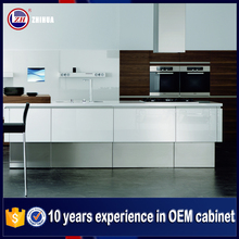 ZH cabinet manufacturer european rta curved kitchen cabinet