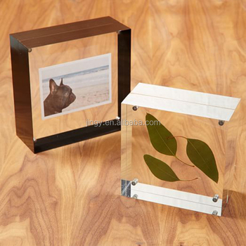 magnetic picture frame block clear solid acrylic photo cube frame buy acrylic photo cube frame. Black Bedroom Furniture Sets. Home Design Ideas