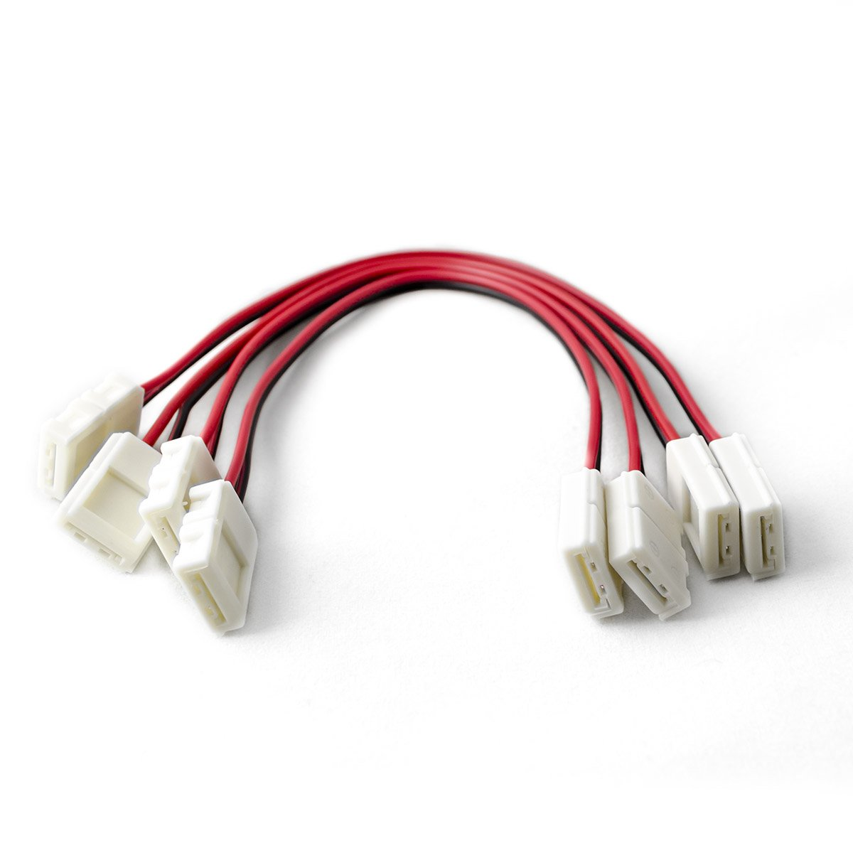 HitLights CON-08S-B00A-4PK LED Light Strip Connector, 8mm Single Color 3528 - 6 Inch Any Angle Strip to Strip, 4 Pack