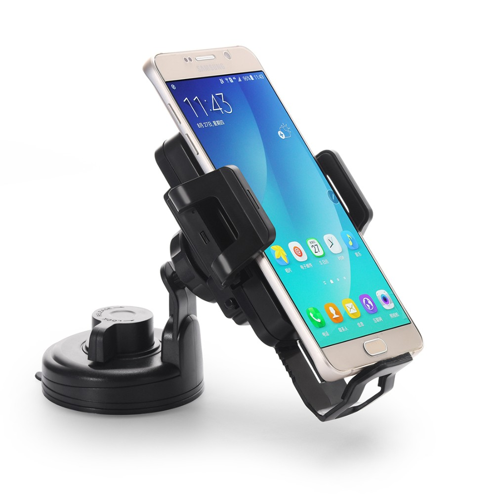 360 Degree Rotating Qi Wireless Charger Charging Car Windshield Mount Holder Stand For Smart Phone