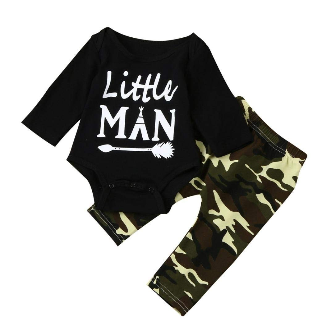 501a06d74 Get Quotations · Boy Clothes Set 0-18 Months,Newborn Infant Baby Boy Long  Sleeve Letter Print