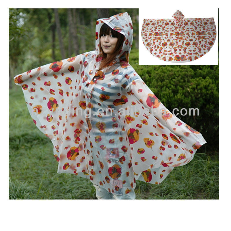 New style hooded EVA /PEVA poncho towel for adults