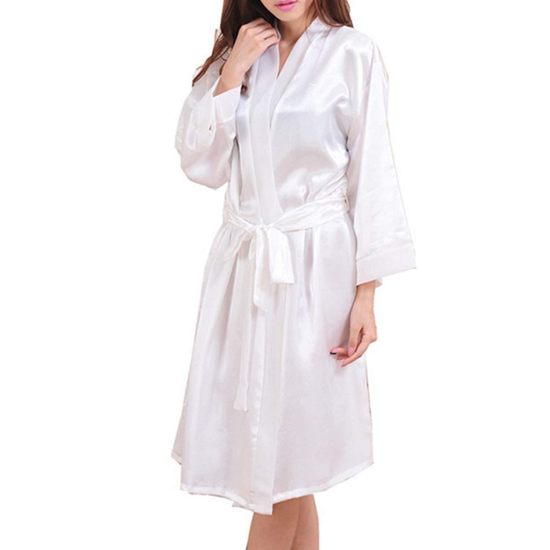 Pandapang Mens Printed Lounge Silk Sleepwear Fit Comfortably Long Sleeve Robes