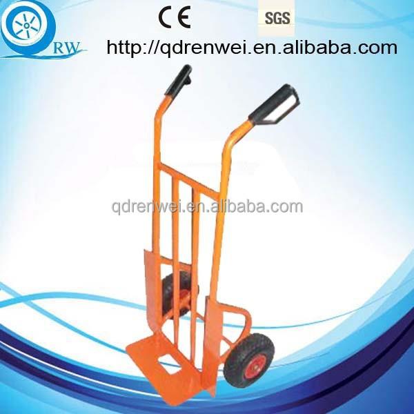 Metal stamdard carretilla de mano con asa doble mano carro for Carretilla dos ruedas mano