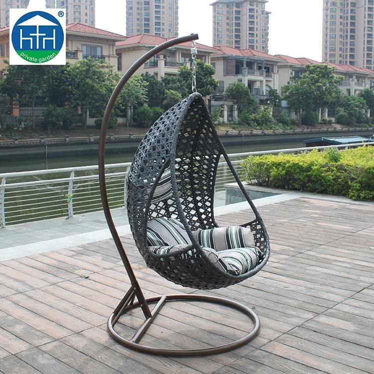 Patio Garden Rattan Egg Hanging Chair