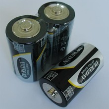 zinc carbon battery 1.5V R20 battery D size 2S