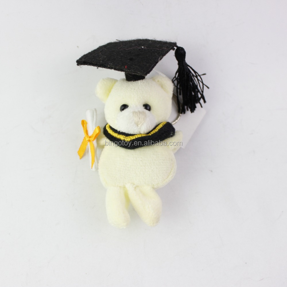 2016 High Quality China factory promotional customized stuffed plush graduation teddy bear toy in wholesale price