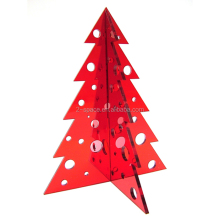 Assorted colours Laser Cut Tabletop Acrylic 3D Christmas Tree Decoration