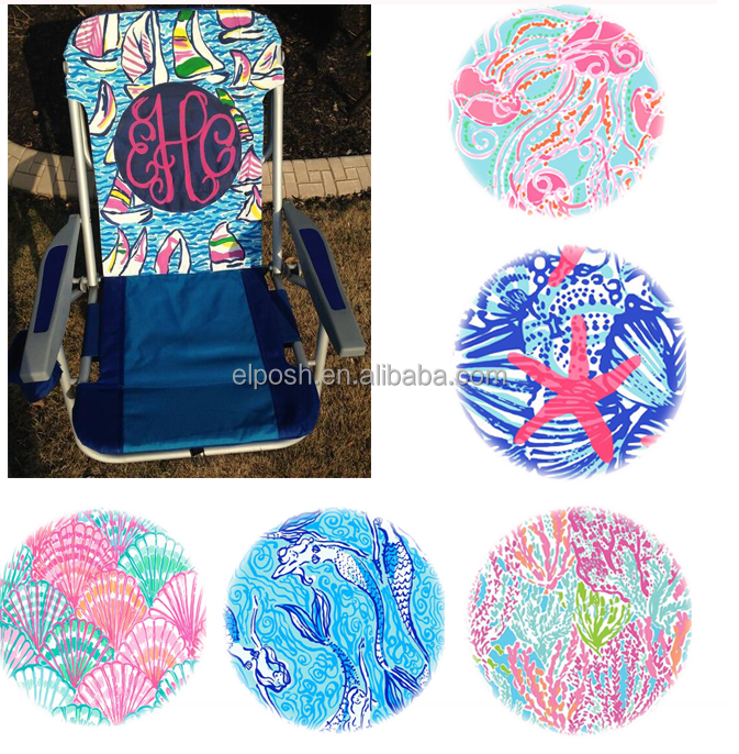 Wholesale Foldable Camping Monogrammed Lily Beach Chair