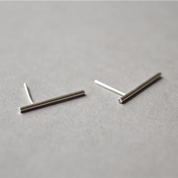 691b0fcfa 925 Sterling Silver Stud,Tiny Thin Long Bar Ear Stud Earrings - Buy ...