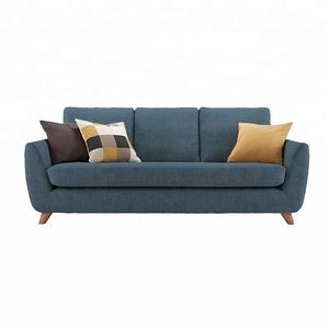 Modern Lobby High Density Foam Sofa with Reclining Headrest