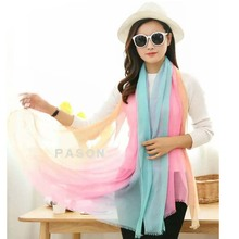 20 types assorted colors rainbow colorful top quality japanese silk scarf for women