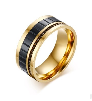 Hot-Selling Ring 10Mm Wide Stainless Steel Black Men'S Ring European And American Tyrannical Ring