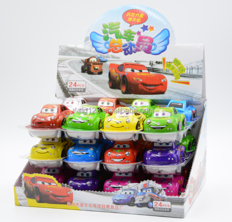 12g Cars chocolate biscuit with toys surprise egg cars with surprise