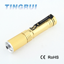 Factory Bulk Sale Custom Made CE 200 lumen Zoomable High Power Rechargeable Led Flashlight