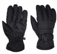 All black cheap ski gloves