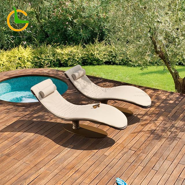 2018 hotel modern rope aluminum frame outdoor lounge furniture