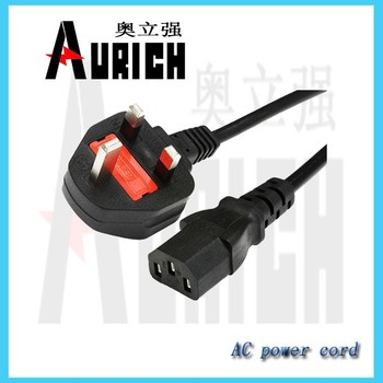 UK 3pin plug BSI power cords,c19 to c13 power cord,power cord for electric grill
