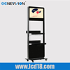 15inch digital signage kiosk display stand lcd screen by WiFi wireless or wired network