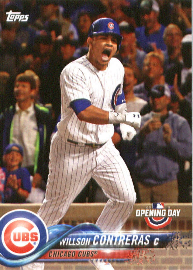 2018 Topps Opening Day #23 Willson Contreras Chicago Cubs Baseball Card