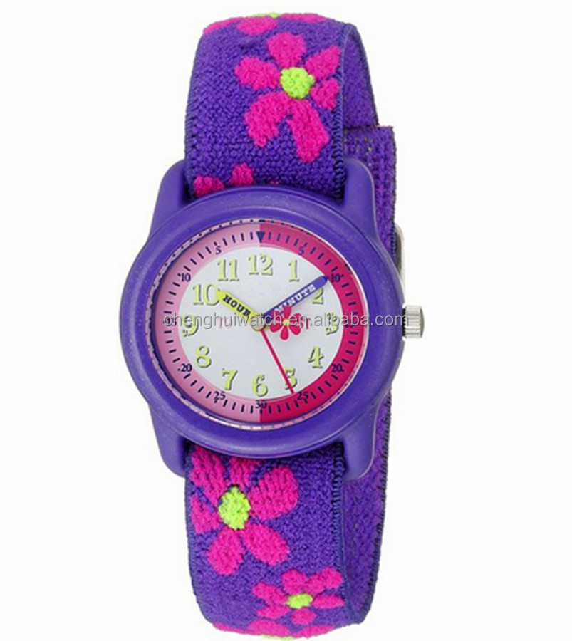 Blue and Green Canvas Nylon Strap Light Luminous Quartz Sports Watch Kids Watch Student Watches