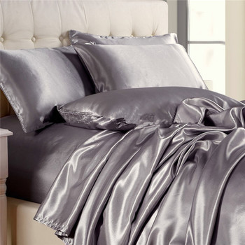 100% Pure Mulberry Silk Charmeuse Bedding Sheets 22MM Silk Blankets Seamless Silk Bed Linen