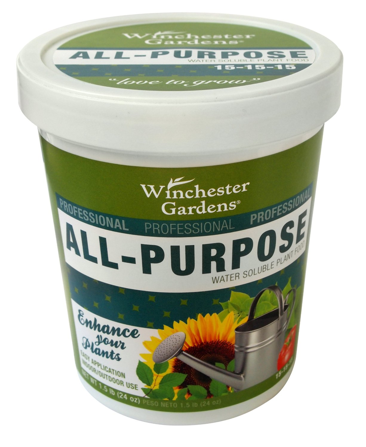 Winchester Gardens Water Soluble Plant Food All Purpose Fertilizer, 1.5-Pound