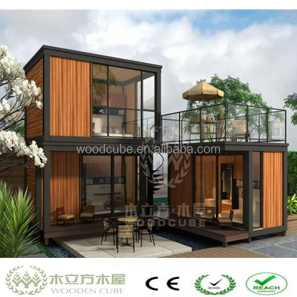 Wpc luxus containerhaus fertighaus produkt id 60488581867 for Container haus holz