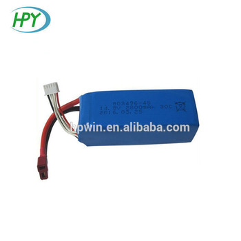 14.8V 2800mAh 4S 803496 lithium polymer battery pack with 35C high rate