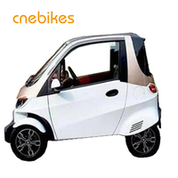 EEC approved 4 wheels mini electric car with two seater and air conditioner