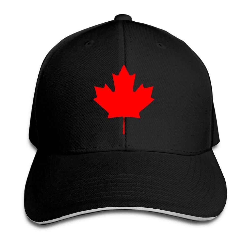 a4bf37bdb9f Get Quotations · ZJXBaseball Cap Sandwich Cap Canada Maple Leaf Canadian  Flag Durable Baseball Cap Hats Adjustable Peaked Trucker