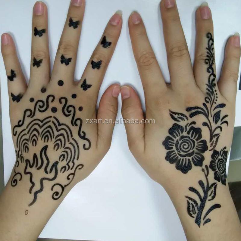 Tattoo Type Mehndi : India type airbrush henna sticker tattoo stencil