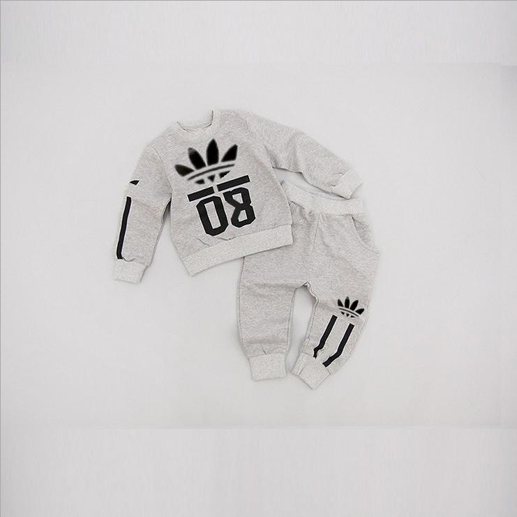 2015 Autumn Spring Baby boys / girls clothing set brand 2pcs clothing sets kids tracksuit baby brand shirt + pants children suit
