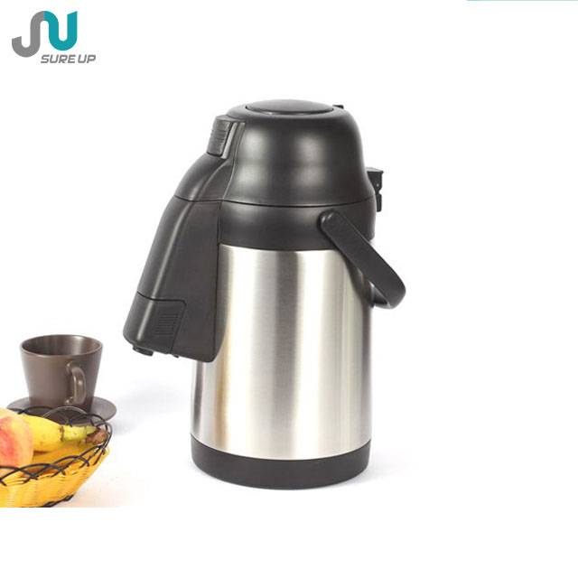 Hot Sell Stainless Steel Vacuum Airpot, Pump Pot, Coffee Pot 1.9L, 2.2L, 2.5L, 3L, 3.5L, 4L, 4.5L, 5L (ASUL)