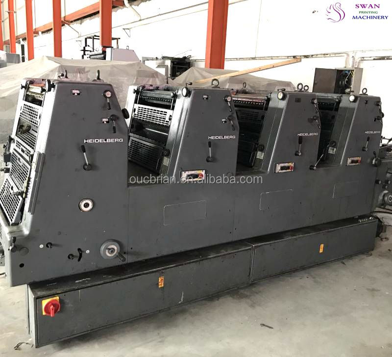 second hand heidelberg gto 4 colours 36x52 offset printing machine