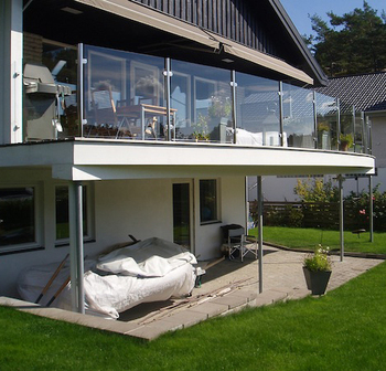 Modern House Balcony Stainless Steel System Design Glass