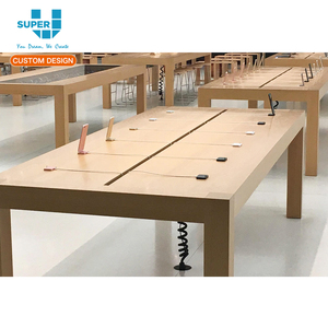 Guangzhou Apple Store Wood Display Table With 4 Legs Furniture