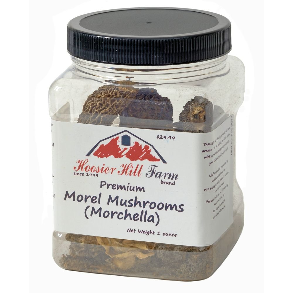 Hoosier Hill Farm dried Morel Mushrooms 1 oz.