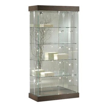 Nice Wine And Perfume Glass Display Showcase Cabinets Commercial