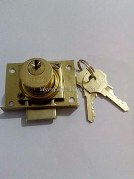 Tak-808 Pin Tumbler Drawer Lock- Brass In Color