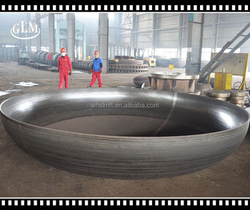 Hot press forming water pipe flange tank cover