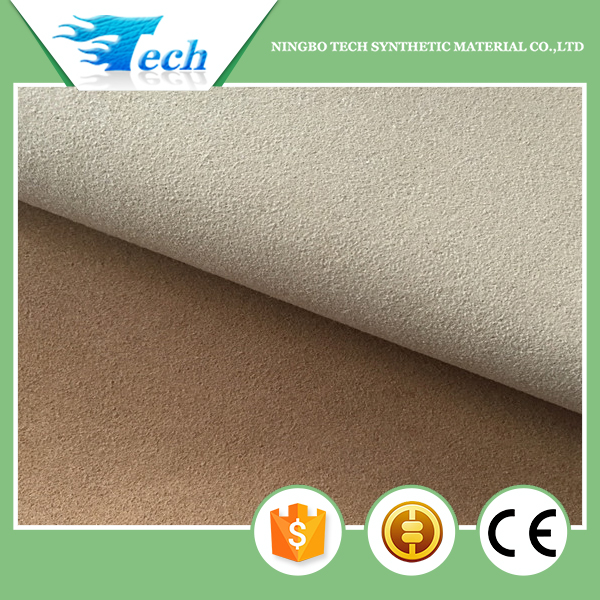 0.7mm pu leather microfiber suede leather
