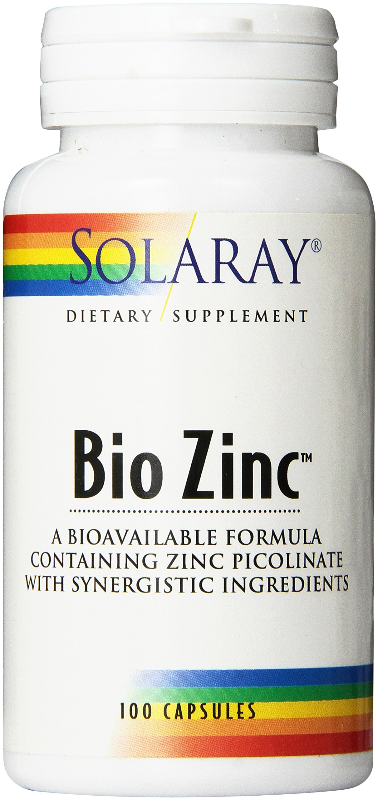 Solaray Bio Zinc Supplement, 15mg, 100 Count