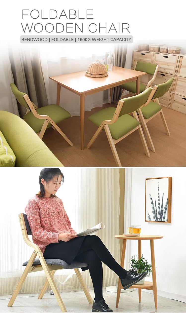 كوريا نمط بيند الخشب بنت الخشب الرقائقي جرائد النسيج الطعام خشبية الترفيه الاسترخاء اليابانية كرسي قابل للطي