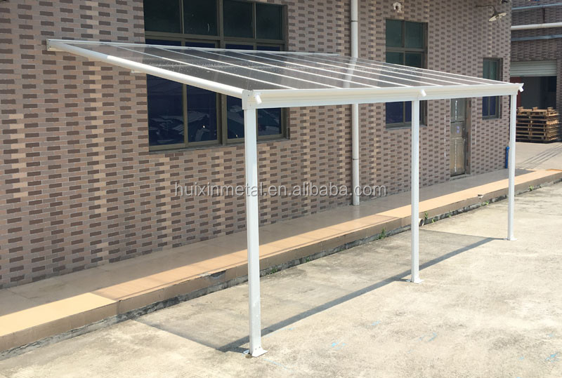 Sturdy Aluminium Frame Hollow Polycarbonate Balcony Patio Cover